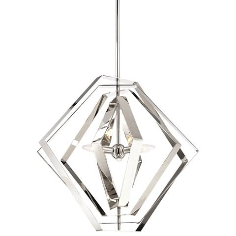 "Eurofase Downtown 27"" Wide Polished Chrome 3-Light Pendant"