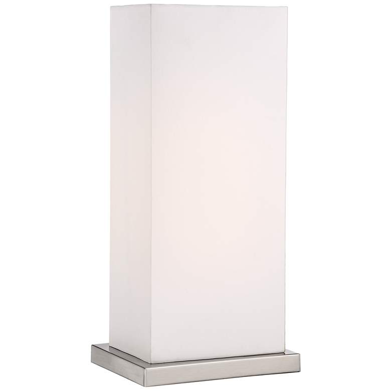 """Oliver White Ribbon Cube 19 3/4""""High Accent Lamp"""