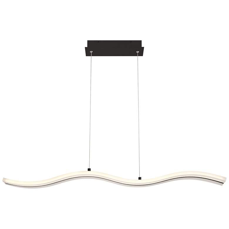 "High Tide 38""W Black White LED Kitchen Island Light Pendant"