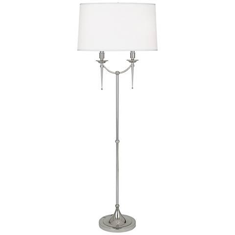Robert Abbey Cedric Polished Nickel Floor Lamp