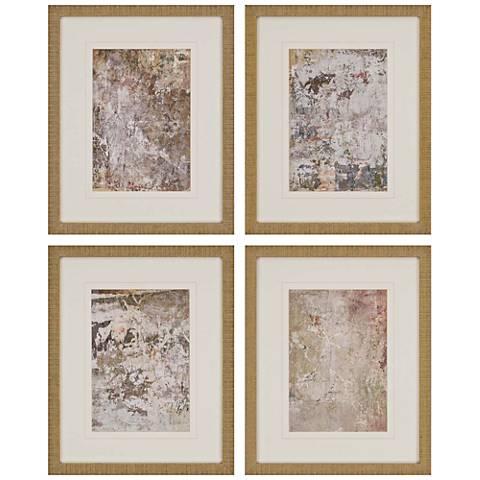 "Vestige I 21"" High 4-Piece Framed Giclee Wall Art Set"