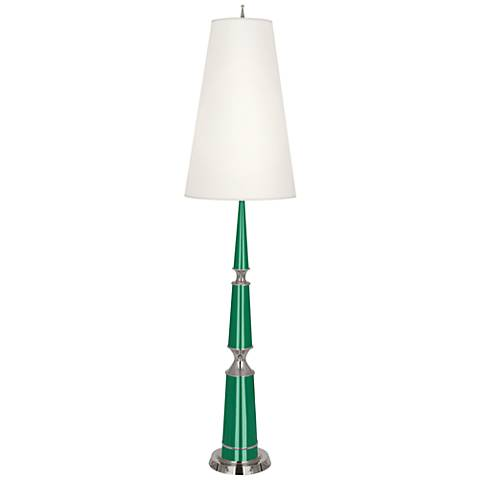 Versailles Emerald Lacquer Floor Lamp with Ascot Shade