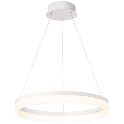 "Eurofase Minuta 23 1/4"" Wide Sand White LED Pendant Light"