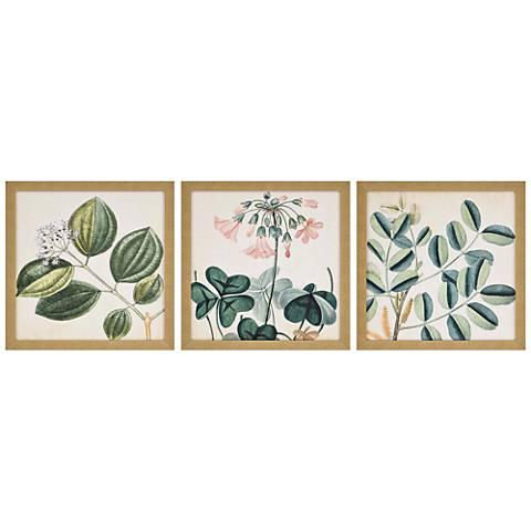 """Garden III 3-Piece 18"""" Square Framed Giclee Wall Art Set"""