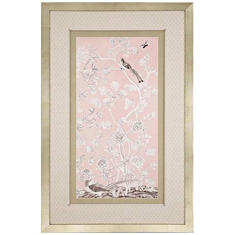"Blush Chinoiserie I 51"" High Framed Giclee Wall Art"