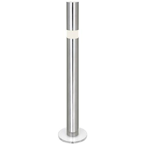 Robert Abbey Peek Polished Aluminum Floor Lamp