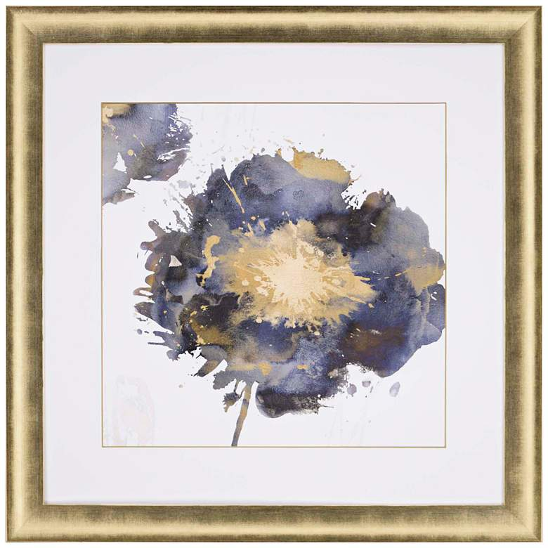 "Flower Burst II 37"" Square Framed Giclee Wall"