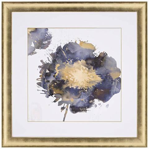 """Flower Burst II 37"""" Square Framed Giclee Wall Art"""