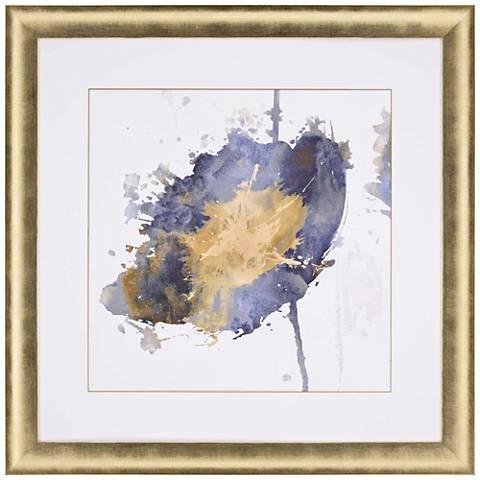 """Flower Burst III 37"""" Square Framed Giclee Wall Art"""