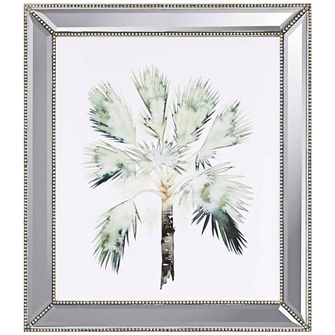 """Watercolor Palm I 33"""" High Framed Giclee Wall Art"""