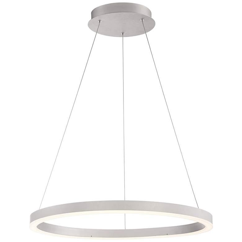 "Eurofase Spunto 27 1/2"" Wide Silver LED Ring"
