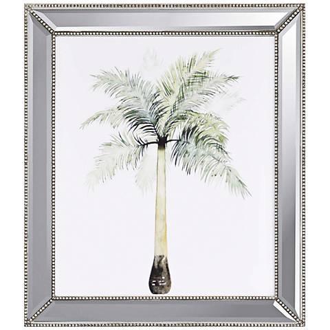 "Watercolor Palm II 33"" High Framed Giclee Wall Art"