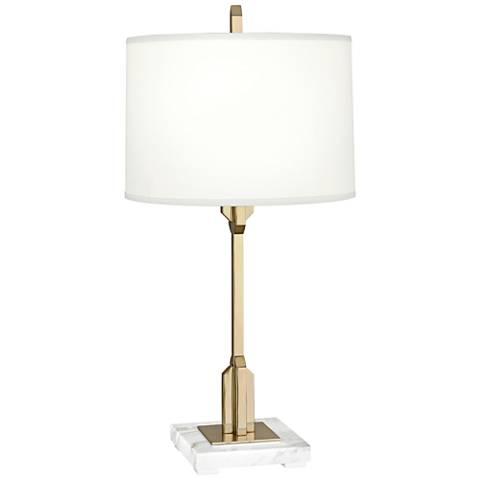 Robert Abbey Empire Modern Brass Accent Table Lamp