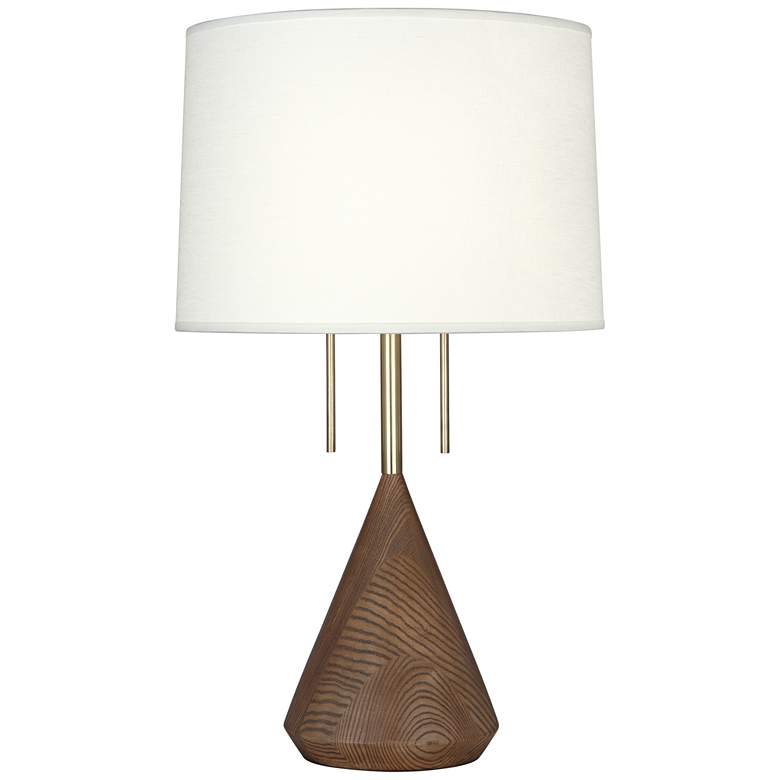 Robert Abbey Wally Walnut Wood Table Lamp