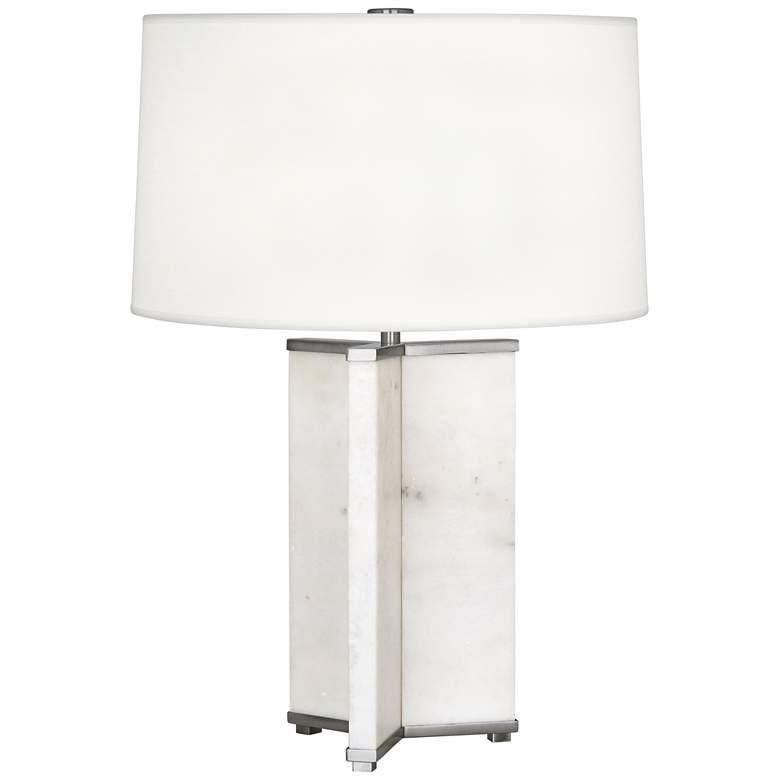 Robert Abbey Fineas Antique Nickel Modern Table Lamp