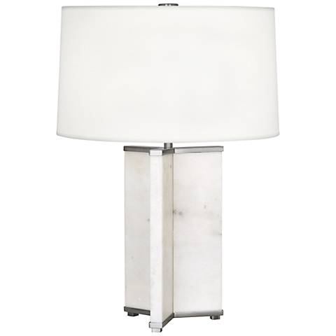 Robert Abbey Fineas Antique Nickel Table Lamp w/ Ascot Shade