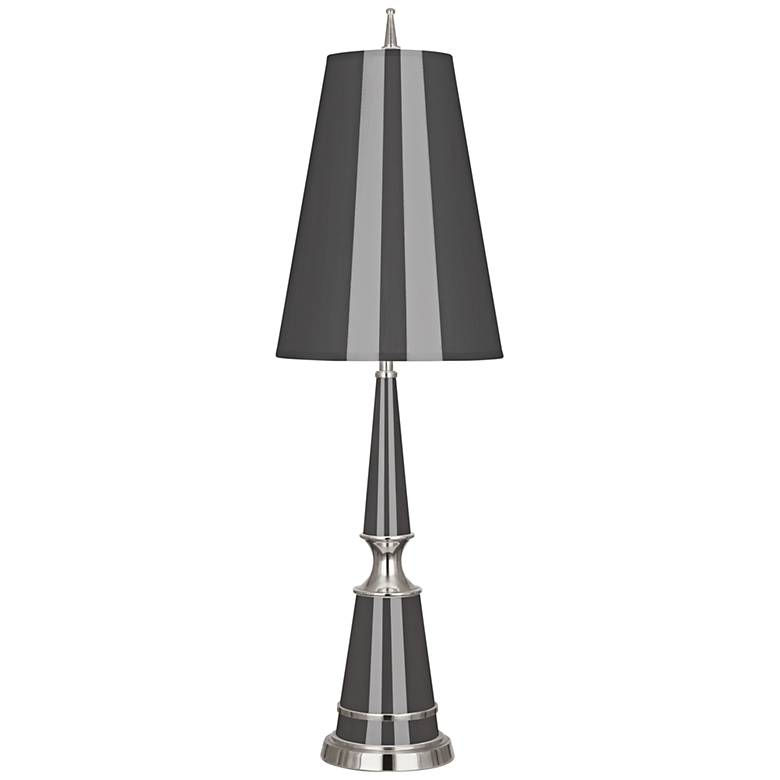 Versailles Ash Lacquer Table Lamp with Ash Shade