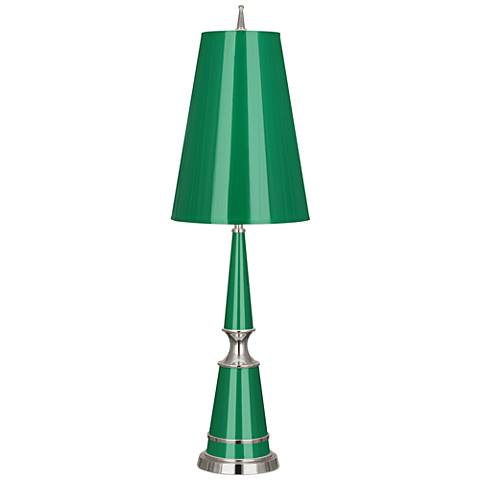 Versailles Emerald Lacquer Table Lamp with Emerald Shade