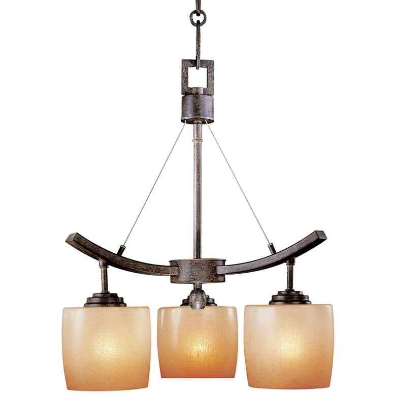 """Raiden Collection Three Light 17"""" Wide LED Chandelier"""
