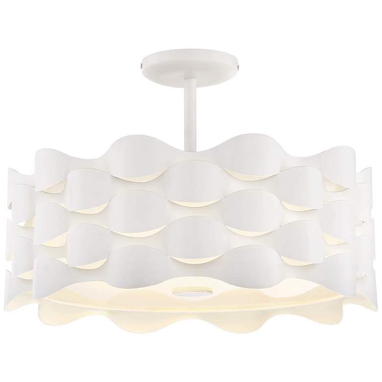 "Coastal Current 18"" Wide Sand White LED Ceiling Light"