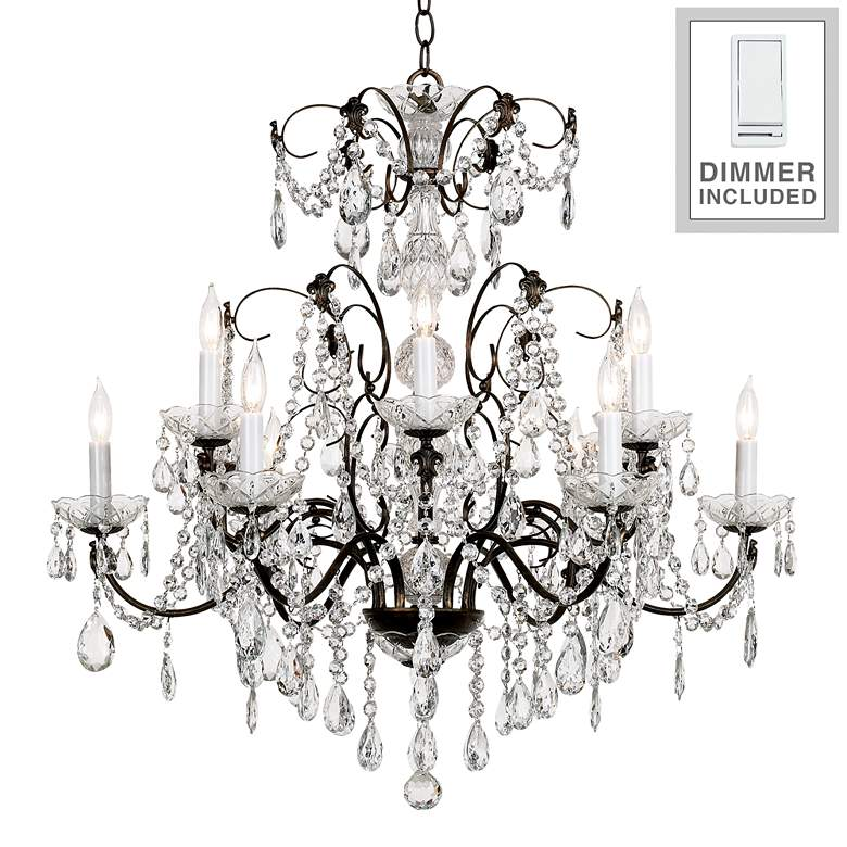 Madison 12-Light Legacy Crystal Chandelier with Dimmer