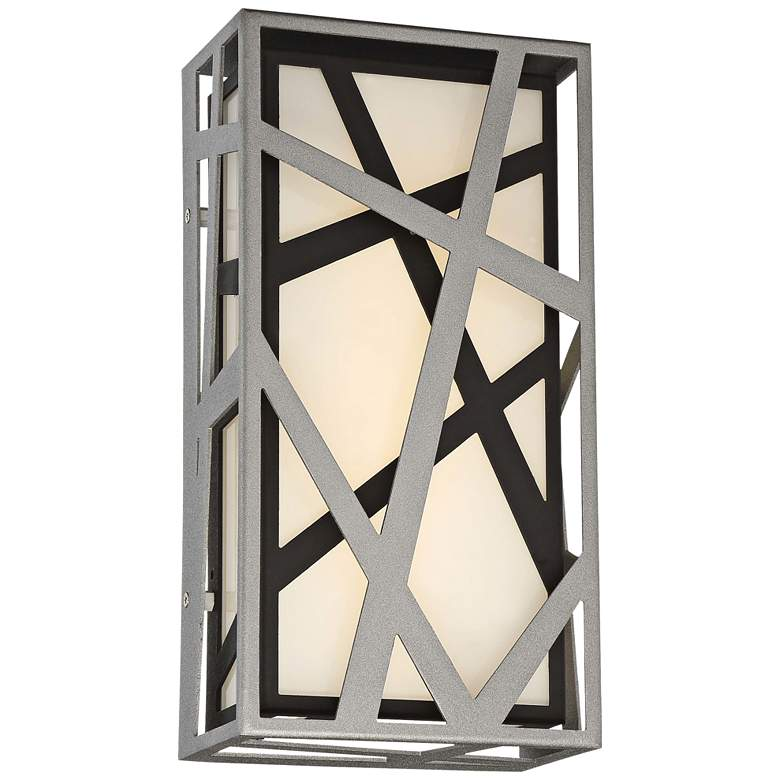 """Duvera 13"""" High Sand Silver and Black LED Wall Sconce"""