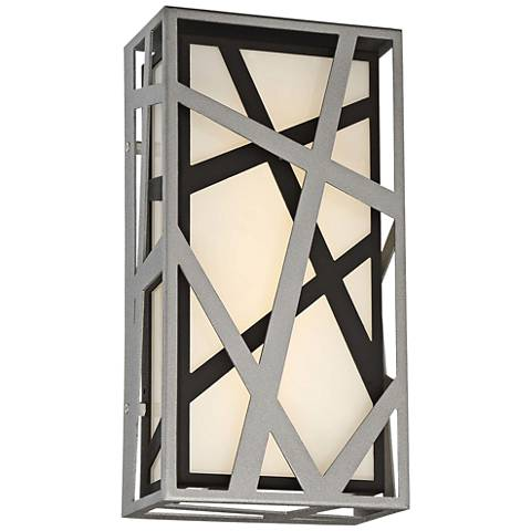 "Duvera 13"" High Sand Silver and Black LED Wall Sconce"