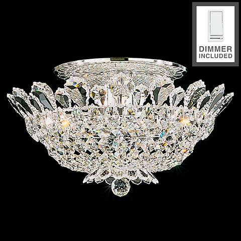 """Trilliane 19""""W Silver Spectra Ceiling Light with Dimmer"""
