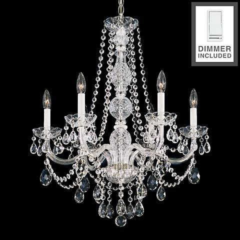 """Arlington 24"""" Wide Heritage Crystal Chandelier with Dimmer"""