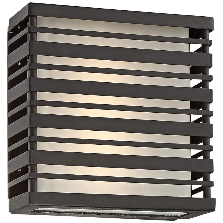 "Obscurity 8"" High Sand Black LED Outdoor Wall Light"