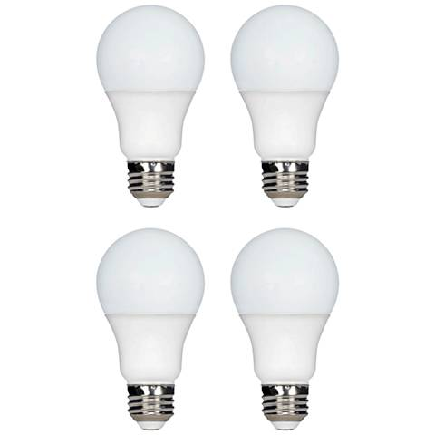 75W Equivalent Tesler 11W LED Dimmable Standard 4-Pack A19