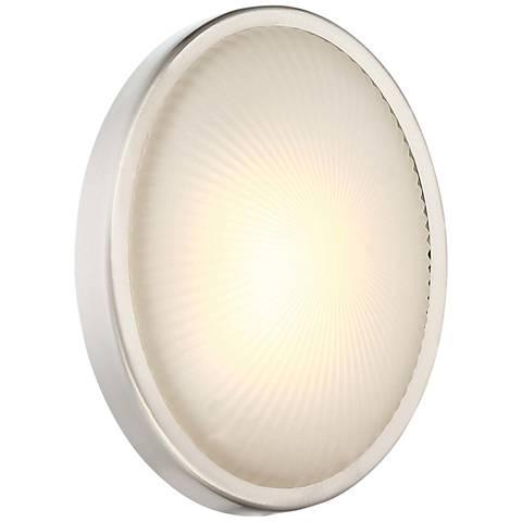 "Radiun 8"" High Brushed Aluminum LED Outdoor Wall Light"