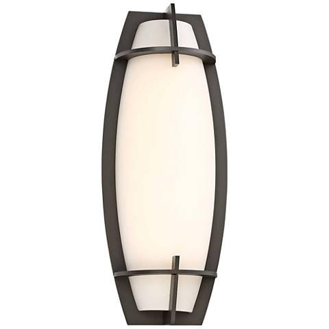 "Morida 16"" High Pebble Bronze LED Outdoor Wall Light"