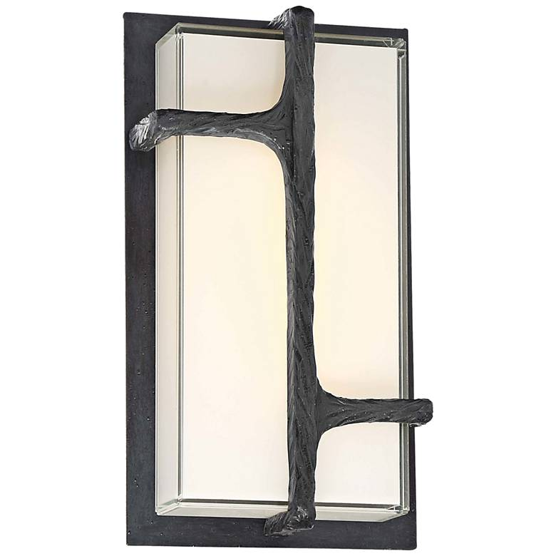 "Sirato 11 1/4"" High Spanish Iron LED Outdoor Wall Light"
