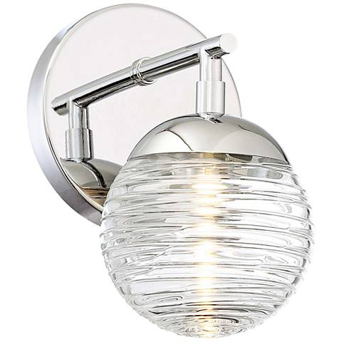 "George Kovacs Vemo 8"" High Polished Nickel LED Wall Sconce"
