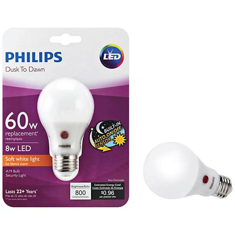 60W Equivalent Frosted 8W LED Non-Dimmable Standard A19 Bulb
