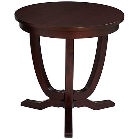 Nash Espresso Round Accent Table