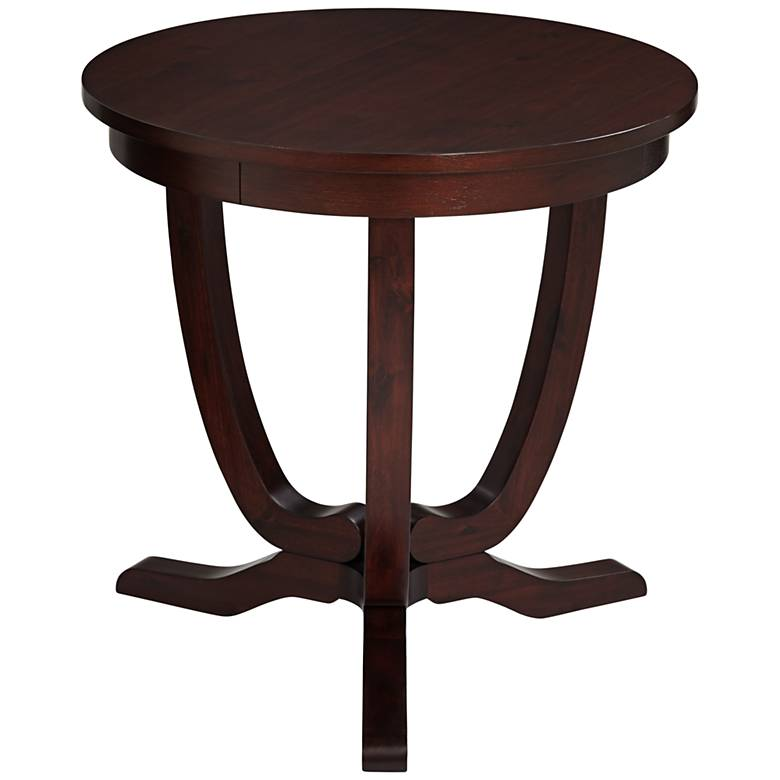 "Nash 22"" Wide Espresso Round Accent Table"