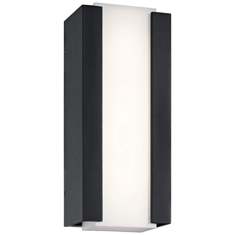 """Kichler Ashton 12""""H Textured Black LED Outdoor Wall Light"""