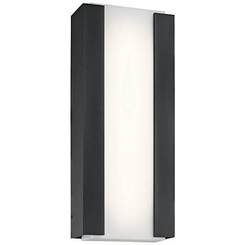 """Kichler Ashton 15""""H Textured Black LED Outdoor Wall Light"""