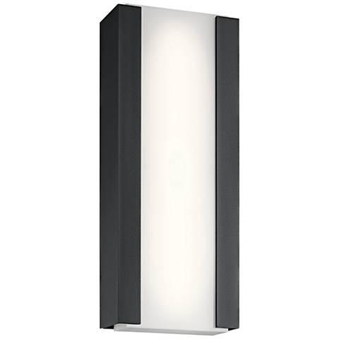 """Kichler Ashton 24""""H Textured Black LED Outdoor Wall Light"""