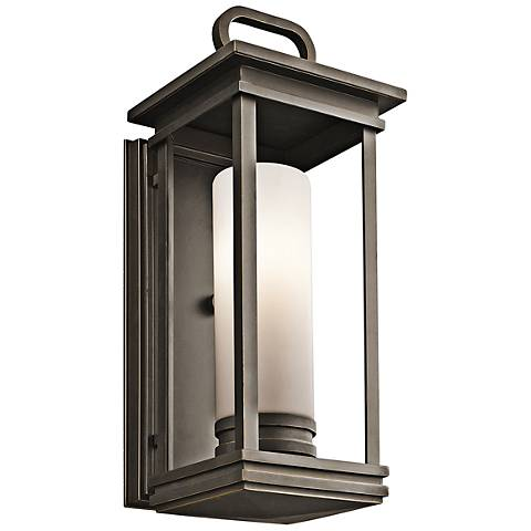 "Kichler South Hope 17 3/4""H Rubbed Bronze Outdoor Wall Light"