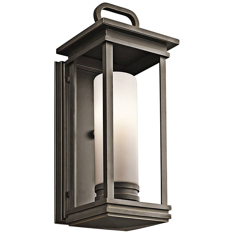 """Kichler South Hope 17 3/4""""H Rubbed Bronze Outdoor Wall Light"""