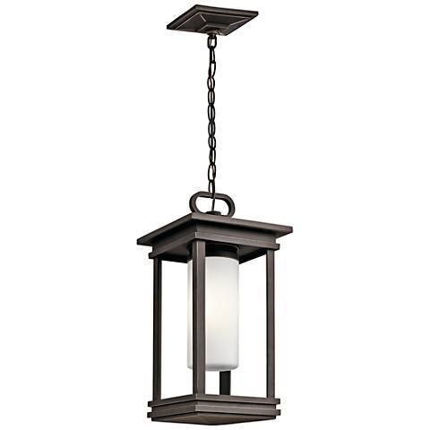 """Kichler South Hope 19""""H Rubbed Bronze Outdoor Hanging Light"""