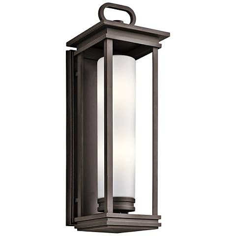 "Kichler South Hope 28"" High Rubbed Bronze Outdoor Wall Light"