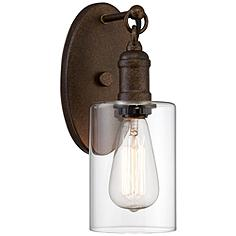 """Cloverly 11 3/4"""" High Bronze LED Wall Sconce"""