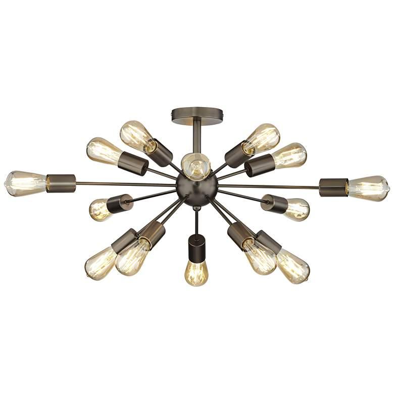 """Possini Euro Hemingson 26"""" Wide Bronze LED Ceiling Light"""