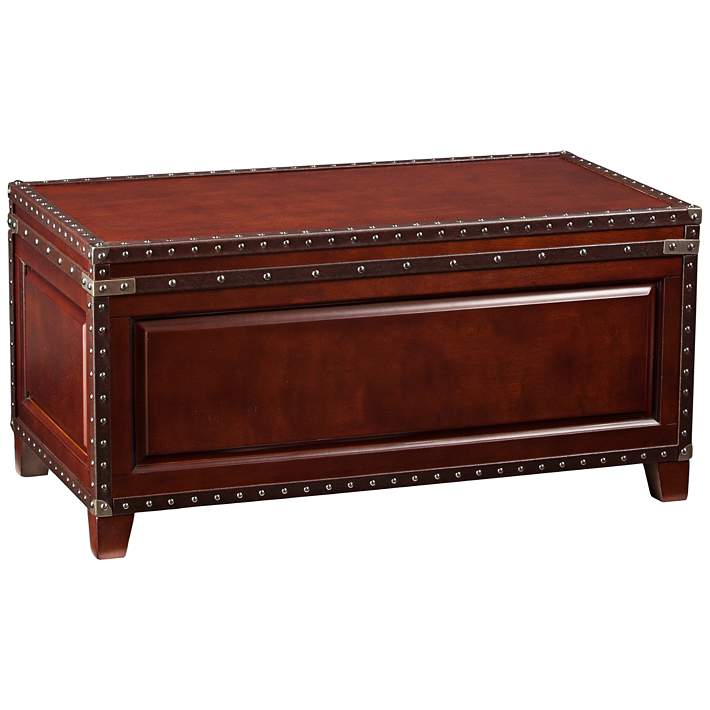 Anthony 39 3 4 Wide Dark Cherry Wood Trunk Tail Table