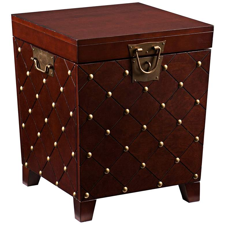 "Anastasia 21 1/4"" Wide Espresso Wood Trunk End Table"