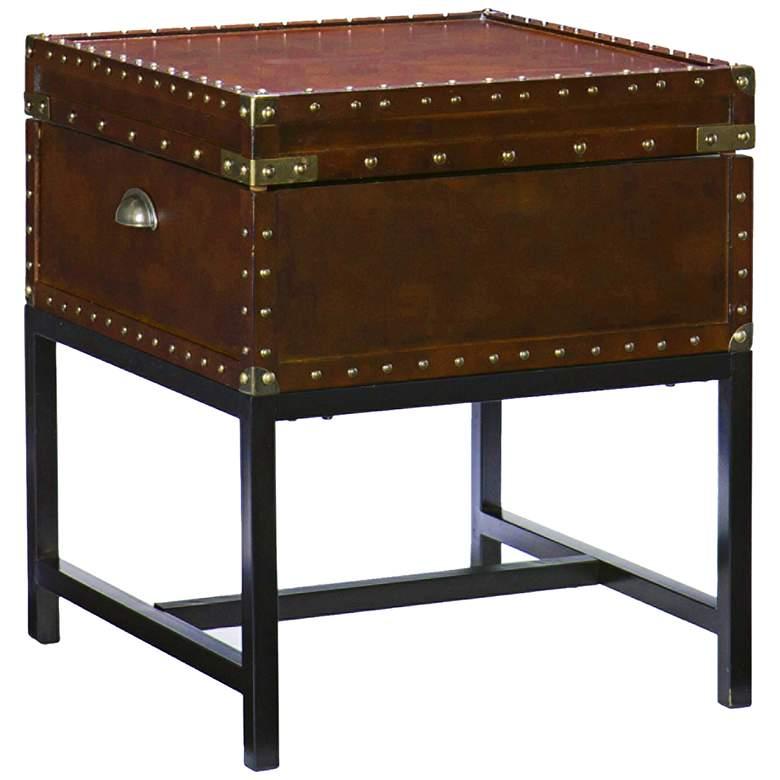 "Venture 20"" Wide Espresso Bown Storage End Table"